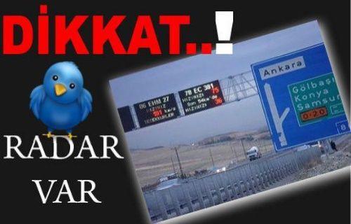Dikkat! Twitter'da radar var!