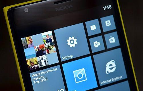 Windows Phone 8.1'in başlangıç ekranı görüntülendi