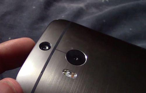 HTC M8'in çift kamerası yakından görüntülendi