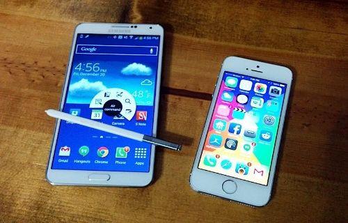 iOS 7.1'li İphone 5S ve Galaxy Note 3 tarayıcı karşılaştırması (Video)