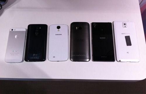 Yeni HTC One, Galaxy S4, Note 3, LG G2, Xperia Z1 ve iPhone 5S ile birlikte!