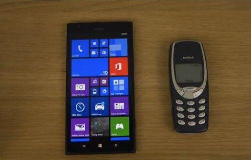 Nokia Lumia 1520 ile Nokia 3310 karşı karşıya gelirse ne olur? (Video)