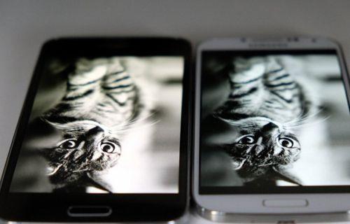 Galaxy S5 vs Galaxy S4 vs Galaxy Note 3 ekran karşılaştırması