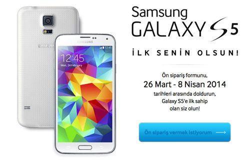 Yeni Samsung Galaxy S5 ilk senin olsun