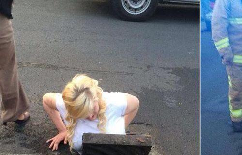 Akıllı telefonunu kurtarmak için kanalizasyona giren kız geri çıkamadı