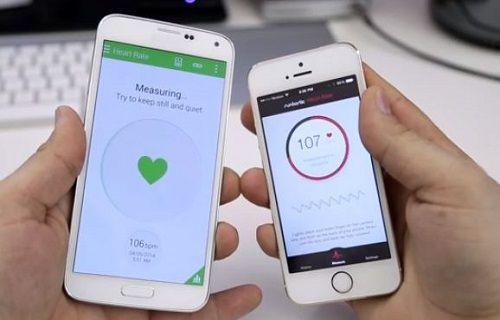iPhone 5S ile Galaxy S5'teki gibi kalp atış hızını ölçmek mümkün!