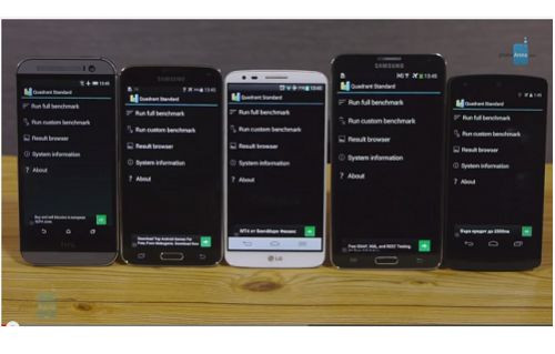 HTC One M8, Samsung Galaxy S5, LG G2, Samsung Note 3, Nexus 5, Benchmark karşılaştırması! [Video]