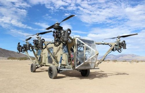 Hem helikopter hem de kamyona dönüşebilen hibrid araç: Black KnightTransformer [Video]