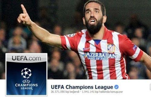 UEFA Şampiyonlar Ligi'nin Facebook kapağı Arda Turan oldu