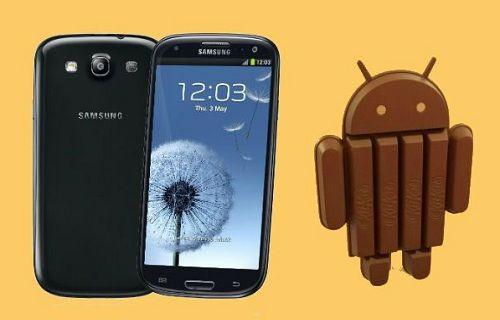 Galaxy S III, Android 4.4 güncellemesi almaya başladı