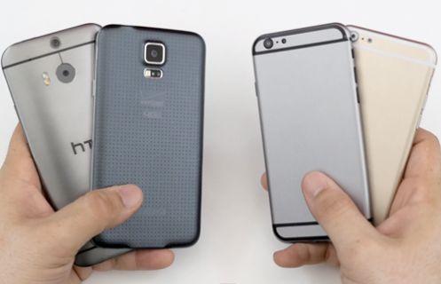 iPhone 6 ile HTC One M8 ve Galaxy S5 karşılaştırması - Video