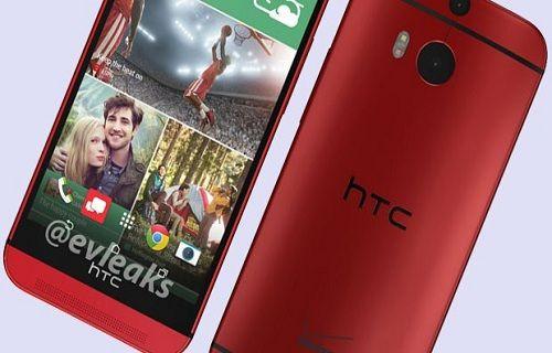 Kırmızı HTC One M8 ilk kez görüntülendi