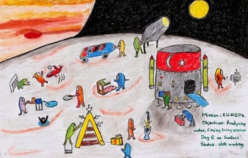 Türk öğrencinin resmi Ay'a gönderildi