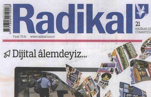 Radikal Gazetesi artık sadece dijital ortamda