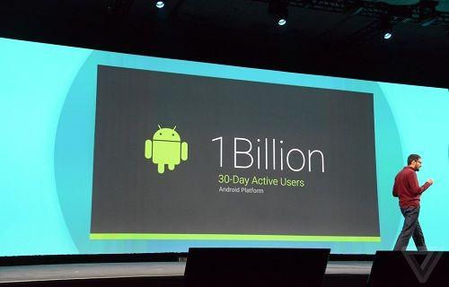 Google IO: Android 1 milyar aktif kullanıcıya sahip
