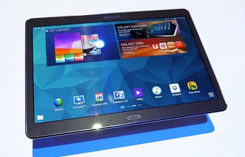 Galaxy Tab S'in Super AMOLED ekranı dikkat çekici [Video]