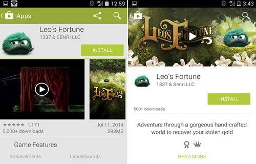 Google Play'in tasarımı değişiyor
