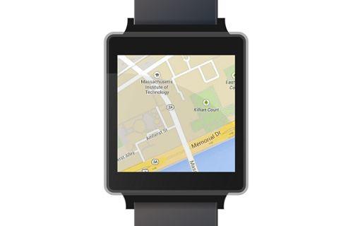 Akıllı saatler için harita uygulaması