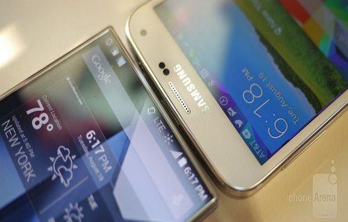 Galaxy S5 ve çerçevesiz ekranlı Sharp AQUOS Crystal X: İlk Bakış