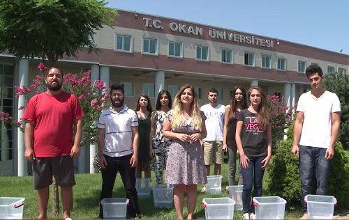 """""""IceBucketChallenge"""" kampanyasına Okan Üniversitesi öğrencilerinden destek"""