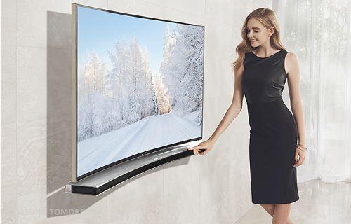 Samsung'dan kavisli TV'lerle uyumlu kavisli ses çubuğu
