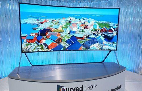 Samsung'dan bükülebilir 105-inç Ultra HD kavisli OLED TV