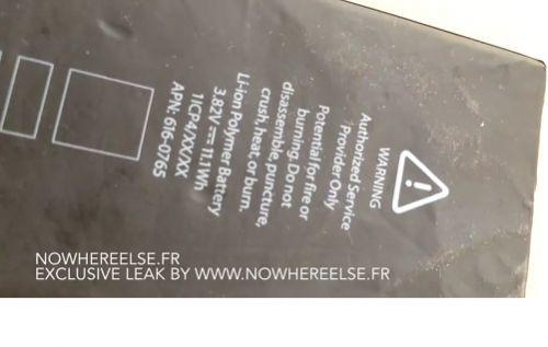 5.5 inç iPhone 6'nın pili görüntülendi