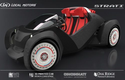 3D teknolojisi ile üretilen ilk otomobil: Strati!