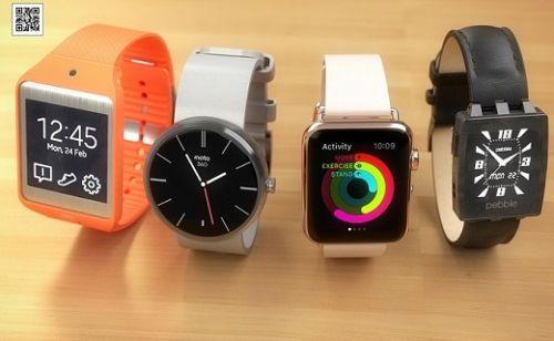 Apple Watch; Moto 360, Pebble ve Gear Neo 2 akıllı saatlerle yan yana