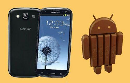 Galaxy S3'ün uluslararası LTE sürümü Android 4.4.4'e güncellendi