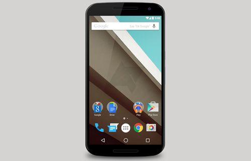 Nexus 6 ve Android L bir arada