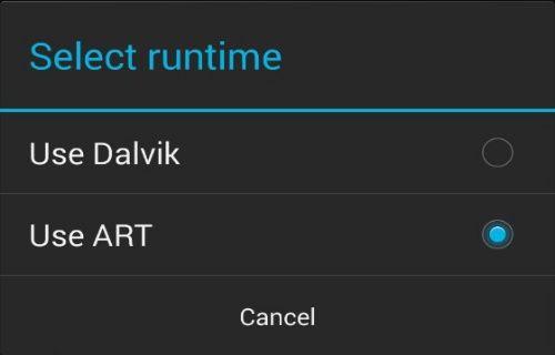 Android'de Dalvik sanal makinesinden ART( Android Run Time)'ye geçiş nasıl yapılır?