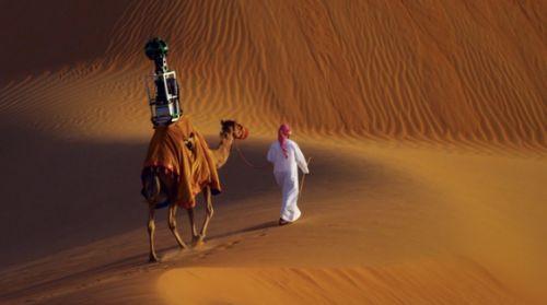 Google Street View Arap çöllerine deve ile girdi! (Video)