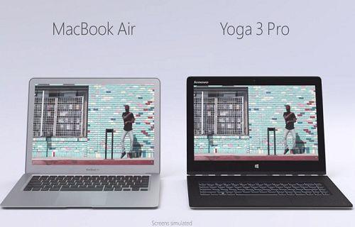 Microsoft, MacBook Air'e karşı Yoga 3 Pro'yu öneriyor