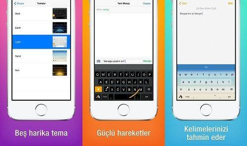 Swype iOS8 kullanıcıları için artık Türkçe dil desteğine sahip