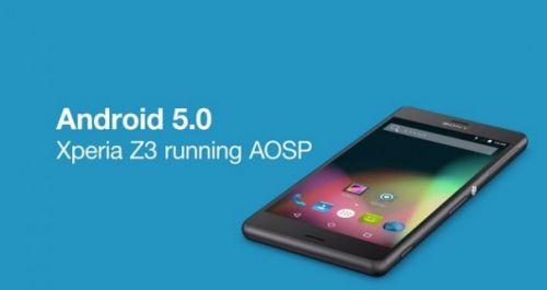 Sony, Android Lollipop AOSP projesini Xperia Z3 üzerinde gösterdi