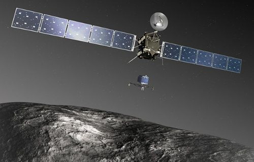 Dünya Rosetta'nın kuyruklu yıldıza indireceği 'Philae' aracına kilitlenmiş durumda!