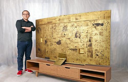 Samsung'dan altın kaplamalı kavisli TV