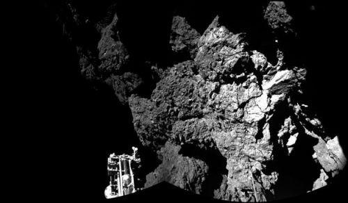 Philae uzay aracının kuruklu yıldızdan çektiği ilk görüntüler!