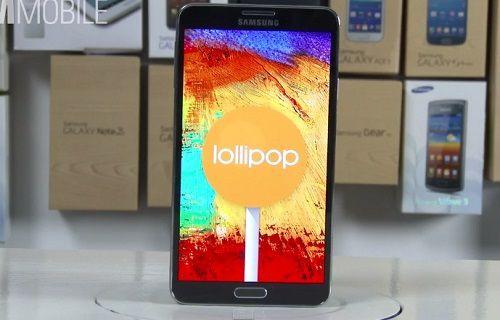 İşte Android 5.0 Lollipop yüklü Galaxy Note 3 [video]