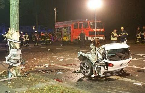 İbretlik bir trafik kazası!