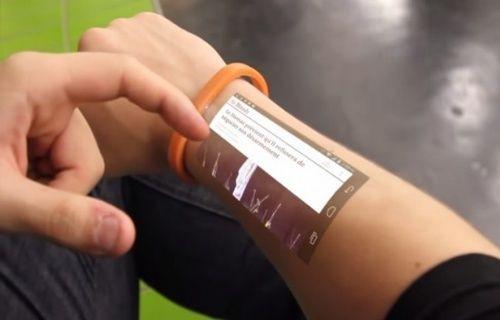 Cicret adındaki bileklik kolunuzu dokunmatik ekrana çeviriyor! Video