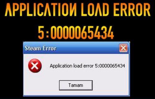 Application load error hatası neden oluşur?