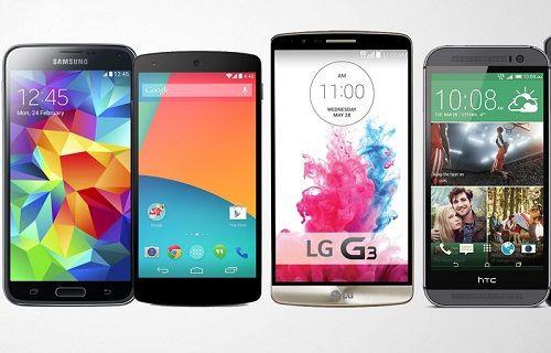 Android 5.0 ve KitKat yüklü Galaxy S5, HTC One (M8), LG G3 ve Nexus 5 performans karşılaştırması