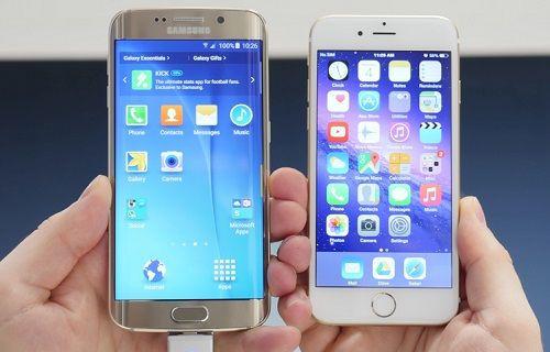 Galaxy S6 Edge ve iPhone 6 hız testinde