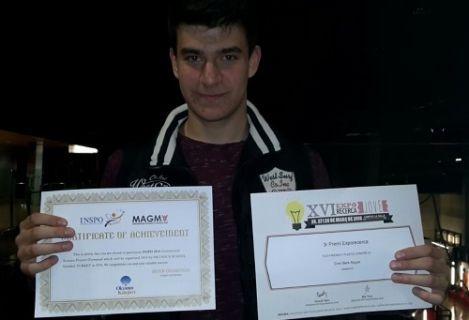 Liseli genç Bilimsel Projeler Yarışmasında Dünya 3.sü oldu!
