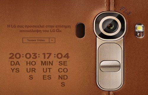 Deri kaplamalı ve 20 MP kameralı LG G4 için geri sayım başladı!