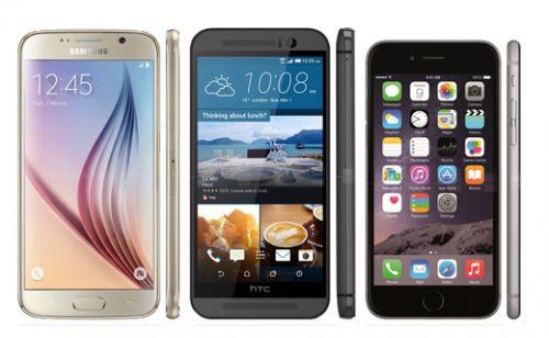 iPhone 6, Galaxy S6, HTC One M9 ve Note 4 gün ışığında ekran karşılaştırması
