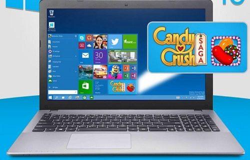 Candy Crush Saga, Windows 10'da ön yüklü oyunlardan biri olacak