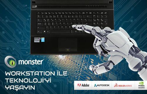 Monster Notebook Workstation Serileri  ile Teknoloji'yi Yaşayın